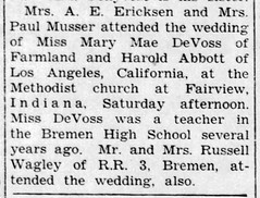1960 - DeVoss - Enquirer - 18 Aug 1960