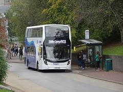 Arriva Derby 4538 Nottingham University (Guy Arab UF) Tags: arriva derby 4538 yy67hdd alexander dennis e40d enviro 400mmc bus portland hill nottingham university park hopperbus buses