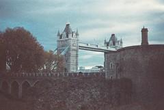 Tower Bridge (goodfella2459) Tags: nikonf4 afnikkor50mmf14dlens adoxcolorimplosion100 35mm c41 film analog colour london towerbridge toweroflondon tree bridge manilovefilm