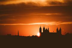 Sunset in Worms (Marc Braner) Tags: ifttt 500px sunset sun sunlight germany europe worms rhinelandpalatinate silhouette cathedral church dom dome wormser st peter zu building dusk skyline cityscape townscape dark twilight lampertheim hessen deutschland