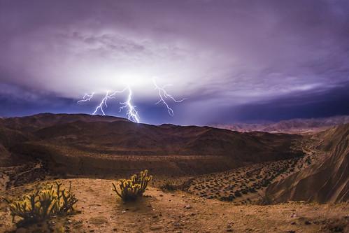 And the Lightning Strikes - Anza-Borrego Desert - October 12, 2018