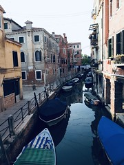 Venice (FotoFling Scotland) Tags: venice canal boat barge italy