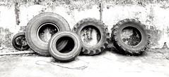 Circles (CJS*64) Tags: rubbet tyres dumped rubbish samsungphone phone blacknwhite blackwhite whiteblack mono monochrome craigsunter cjs64 urban circle circles