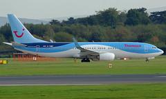 G-TAWF (a) 03/10/14 Manchester (EGCC) (Lowflyer1948) Tags: gtawf boeing b7378k5 031014 manchester thomsonairways