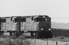 """3:10 to Yuma (Ramona Pioneer Girl) Tags: someplaceinthedesert gradients gradient blackwhite bw unionpacific trains grayscale grays blackandwhite panasonic lumix camera photograph photography lens f28 picture pictures kodak """"kodak moment"""" kodakmoment potd photo day trend trending current flickr nature natural moment moments candid usa 2018 water sky street historic town country east county clouds sun fun hobby interest interests ramona california photooftheday photographs fz300"""