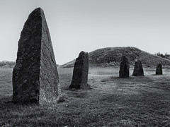 Anundshög Stones (Tim Ravenscroft) Tags: anundshög sweden stones standing circle tumulus hasselblad hasselbladx1d monochrome blackandwhite blackwhite