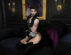 Morgana (EnviouSLAY) Tags: incubus sexy lingerie black gachas set newreleases new releases skybox rare couch painting sconces theloft the loft pixicat curtains wings demon demonic curlyhair curly hair brunette doux belleza bento lelutka thirst rld redlightdistrict red light district boots feathers gloves vest harness gabriel darkstylefair dark style fair epiphany gachaevent gachafair gachafashion gachadecor monthlyfair monthlyfashion monthlyevent monthly event fashion decor pale male gay blogger secondlife second life photography