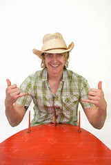 Cowboy Surfer (the UMF) Tags: 20s 2025years backgrounds blondehair frontview healthylifestyle image indoors isolatedonwhite longhair oneyoungmanonly onlyyoungmen plainbackground smiling surfboard vertical whitebackground adult caucasian color copyspace cowboy dude gesture happy hat isolated lifestyle male men people realpeople singleobject studioshot surf surfer wellbeing white youngadult youngmen youthculture