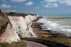 Chalk Cliffs Near Brighton (iwys) Tags: chalk cliffs brighton rottingdean coastal defences scenery blue sky sea sussex coast groynes beach