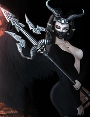 "★ Look 404 "" Lilith "" (Marzia & Shaitan Demon ""Frozen Space Fashion Blog ) Tags: blueberry glamaffair vanityhair realevil epiphany eastudio maitreya lelutka bento gacha secondlife halloween lilith"