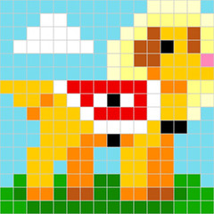 little-angel (traddogfather) Tags: dog service little angel canine golden retriever lab labrador pixel art eit esa therapy