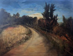 Go West (gidtmpzt32) Tags: oilpainting art mountainscape mountains ranch rural sunset logan utah