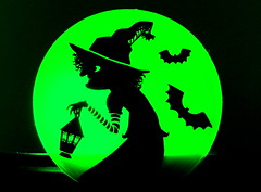 The Wicked Witch (acwills2014) Tags: trickortreat macromondays witch bats halloween moon full night light moonlight silhouette hat lantern witches nose pointed trick treat scary green spell spookey dark fright broomstick
