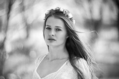 Airiness (Valentyn Kolesnyk (ValeKo)) Tags: pentax people portrait helios 40 85mm woman monohrome k3 pentaxflickraward