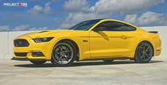 triple-yellow-mustang-gt-project-6gr-10-ten-satin-graphite-01 (PROJECT6GR_WHEELS) Tags: project 6gr 10ten wheels rims rim wheel satin graphite triple yellow s550 mustang gt ford gt350