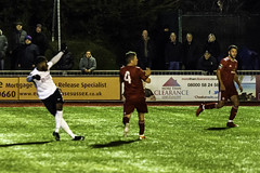 Andre McCollin's equaliser 1 of 3 (Official_Burgess Hill Town FC) Tags: bhtfc burgesshill hillians worthing sussex westsussex football trophy cup fatrophy nonleague replay night floodlight cnthings chrisneal nikon d7200
