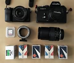 What's in the Bag - Disney World (Alex Luyckx) Tags: camera gear trip disneyworld waltdisney vacation whatsinthebag minoltaxe7 sonya6000 kosmofotomono100 ilfordhp5 fotodiox iphone6s