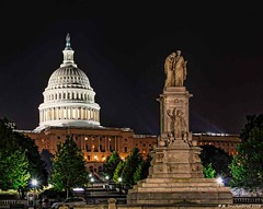 U.S. Capitol Building and the Peace Monument, Washington, D.C. (PhotosToArtByMike) Tags: uscapitolbuilding peacemonument unitedstatescapitol washingtondc unitedstatescongress dc washington nation'scapital neoclassicalmemorial legislativebranch usfederalgovernment naval civilwar