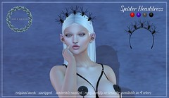 {ID} Spider Headdress (Inner Demons) Tags: {id} innerdemons original mesh headdress headpiece spiders headband halloween accessory halo exclusive rp roleplay sl secondlife ultra