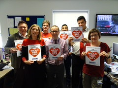 Show Racism The Red Card (nasuwt_union) Tags: red showracismtheredcard nasuwt happy support wearredday wrd18 uk man woman male female helping black white asian bme heart workers offices hall people staff building poster gathering representing