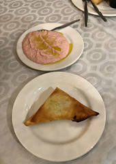 2018 Sydney: Lunch @Diethnes Greek Restaurant (dominotic) Tags: 2018 food restaurant lunch diethnesgreekrestaurant taramosalata tiropita cheesetriangle yᑌᗰᗰy foodphotography iphone8 sydney australia