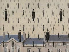 """Golconda"", Rene Magritte (1953) (Joey Hinton) Tags: sanfrancisco california unitedstates rene magritte exhibit museum modern art google pixel2 andriod smartphone cellphone cameraphone phone"