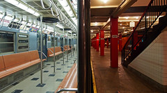 Inside and outside (sonic182) Tags: new york city nyc transit museum subway car old inside outside brooklyn usa united states america usa2018 ny