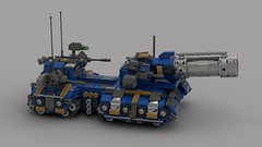 o11 hippocannon tank destroyer (V1) firing bombs (demitriusgaouette9991) Tags: lego military army ldd armored powerful tank turret vehicle bombgun cannon deadly destroyer