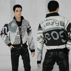 Bomber jacket up for auction on eBay (Regina&Galiana) Tags: fashionroyalty integritytoys homme doll lukas male jacket bomber ken barbie forsale