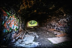 connecting tunnel, site of former Nordbahnhof (TheOtherPerspective78) Tags: urban urbex city cityscape tunnel archway lost lostplace lostplaces abandoned abandonedplaces abandonedplace vienna wien nordbahnhof graffiti brick theotherperspective78 canon eosm6 deserted derelict wasteland