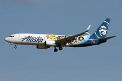 B737-8.N587AS-4 (Airliners) Tags: alaska alaskaairlines 737 b737 b7378 b737800 b737ng boeing boeing737 boeing737800 subpop speciallivery specialcs dca n587as 92918