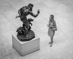 """Furthermore... (John St John Photography) Tags: metmuseum metropolitanmuseumofart fifthavenue newyorkcity newyork streetphotography candidphotography bohemianbeartamer paulwaylandbartlett bronze sculpture woman theamericanwing bw blackandwhite blackwhite blackwhitephotos johnstjohnphotography"