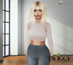 Crop Sweater (_Twiggy_) Tags: twiggy secondlife secondlifeclothing secondlifefashion mesh slavatar maitreya