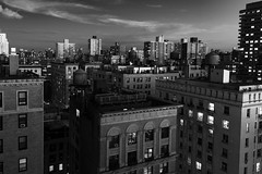 Dusk's Early Light _ bw (Joe Josephs: 3,166,284 views - thank you) Tags: joejosephs nyc newyorkcity skyline travel travelphotography urbanscene citiscape city citybuilding cityphotography citystreets cityscape newyorkcityphotography rooftop urbanarchitecture urbanexploration dusk nightphotography night bw blackandwhitephotography monochrome