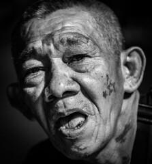 Portrait of a Gangster, Bali Indonesia (Angelo Daniel Prinz) Tags: bnw bw bali black blackandwhite bnwgreatshots bokeh bwmania bwmaniac bwphotography contrast monochrome portrait porträit sanur schwarzweiss silouette porträt
