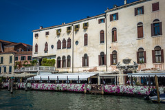 Coming back into Venice on the water taxi we saw this amazing patio with flowers