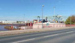Hafen / Harbor - Dortmund (frankdorgathen) Tags: logistik alpha6000 sony sony1018mm mundane urban ruhrpott ruhrgebiet dortmund harbour harbor hafen street strase road weitwinkel wideangle