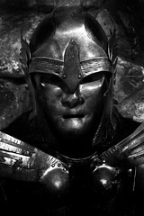 The Portrait Of A Bucket Head (Alfred Grupstra) Tags: workhelmet people warrior suitofarmor men history humanface plastic old conceptsandideas cultures characters humanhead futuristic ancient statue strength thepast metal imagination