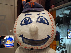 Mets Hall of Fame and Museum at Citi Field, 09/07/18 (NYM v PHI): in-your-face closeup of the original Mr. Met head (IMG_3386a) (Gary Dunaier) Tags: baseball stadiums stadia ballparks mets newyorkmets flushing queens newyorkcity queenscounty queensboro queensborough citifield