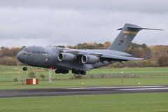 USAF C-17 - Hickam (Dougie Edmond) Tags: prestwick scotland unitedkingdom gb military aircraft airport egpk pik