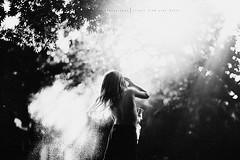Mist... (privizzinis passion photography) Tags: blackandwhite water light backlight backlit mist outdoors people child kid children childhood monochrome portrait bokeh trees