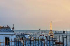 Parisian rooftops (fbkphotography) Tags: 85mm bigcity city citylights cityscape eiffelturm france frankreich paris ps sacrécœurdemontmartre spring street streetphotography sunset toureiffel travel