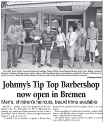 2015 - Johnny's Tip Top Barber Shop - Enquirer - 25 Jun 2015