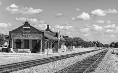 Waiting (Kool Cats Photography over 10 Million Views) Tags: travel tracks railroad railroads leadinglines architecture transportation oklahoma perry