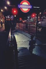 Underground (No_Mosquito) Tags: night city canon powershot g7xmarkii london uk urban lights underground subway stairs light