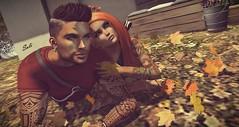 Fall for You .... (SoliCaproni) Tags: posed couple pose bento fair arabic tattoos the avenue event tmp maitreya belleza omega