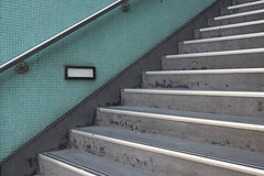 2018 (elevenmonthsinexile) Tags: architecture carlton concrete fujixt1 grey lines melbourne stairs teal