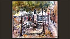 BERGA-PLAÇA DE LES FONTS-PINTURA-FIRA DEL BOLET-FONT-ARBRES-PAISATGES-PINTURES-CATALUNYA-BERGUEDÀ-TEMPS-ATMOSFERA-LLUVIA-PINTOR-ERNEST DESCALS (Ernest Descals) Tags: berga font fuente escultura monument monumentos monuments firadelbolet feria mercat mercado mercados calles plaçadelesfonts paisatge paisatges paisaje paisajes urbanos urbans clima temps atmosfera lluviosa pluja lluvia adoquines arboles esquina ciutat ciudad city barcelona catalonia cataluña catalunta ciutats airelibre airelliure plenair pintar pintando pintant pintor pintorsp intores maestros impresionistas impresionismo cuadro cuadros pintura pinturas pintures quadres quadre painting paintings painter painters ernestdescals rain market arbres artwork paint pictures art arte plastica setas landscape landscaping fira visitantes