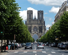 Reims (Andy WXx2009) Tags: landscape cityscape cars urban skyline cathedral trees reims architecture building culture history landmark church france religion catholic europe beauty artistic tower