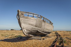 Abandoned (sho5572) Tags: nikon flickr uk visitbritain visitengland abandoned deserted outdoors outdoor autumn october woodenboat old fishingboat headland kent dungeness beach wrecked wreck boat